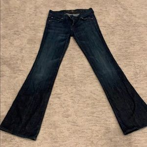 A pocket 7forallmankind flare jeans size 24
